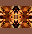 brown pattern with surface of crystal rauhtopaz vector image vector image