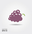 bunch grapes flat icon vector image vector image