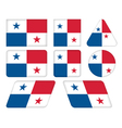 buttons with flag of Panama vector image vector image