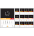 Calendar 2017 template design Week starts from Sun vector image