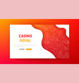 casino royal landing page vector image vector image