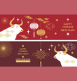 chinese happy new year year bull vector image