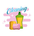 cleaning plastic bottle sponge products vector image vector image