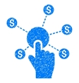 Click Financial Network Grainy Texture Icon vector image vector image