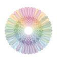 color guilloche vector image