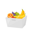 colorful fruit in transparent container isolated vector image