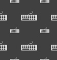 Computer keyboard Icon Seamless pattern on a gray vector image vector image