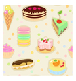 Confection seamless pattern vector image vector image