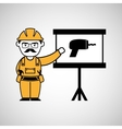 construction man and drill graphic vector image vector image