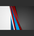 contrast red and blue tech corporate background vector image vector image