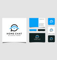 creative home chat combine icon home talk and vector image