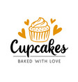 cupcakes logotype badge label vector image vector image