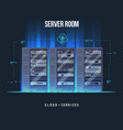 data center and server room data storage and vector image vector image