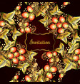decorative card with khokhloma vector image vector image