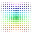 dollar coin shape halftone spectrum pattern vector image