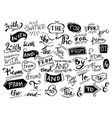 doodle ampersands catchwords calligraphy vector image