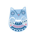 doodle style ornamental hand drawn winter owl vector image vector image