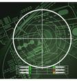 Drone Radar Screen vector image vector image