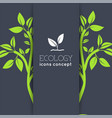 eco leaf icons background concept vector image vector image
