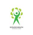 ecology logo template concept vector image