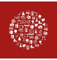 entertainment icons in circle vector image vector image