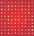 game 100 icons universal set for web and ui vector image vector image