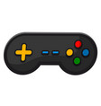 gamepad video game controller black joystick with vector image