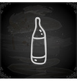 Hand Drawn Bottle of Wine vector image vector image