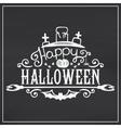 Happy Halloween message design on chalkboard vector image vector image