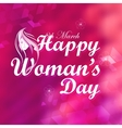 Happy Womans Day vector image
