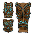 Hawaiian tiki god statue carved wood