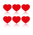 hearts love icons vector image vector image