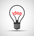 icons light bulb with the word idea vector image vector image