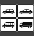 isolated cars in frame vector image vector image