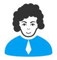 judge flat icon vector image