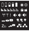 laptop and pc indication status white icons eps10 vector image vector image