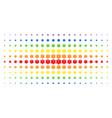 life star spectral halftone matrix vector image vector image