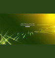 lines abstract with light on green background vector image vector image