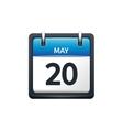 May 20 Calendar icon flat vector image vector image