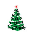 merry christmas concept with christmas tree vector image