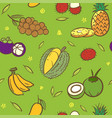 mix tropical thai fruits seamless pattern vector image