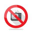 no television sign vector image vector image