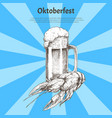 oktoberfest invitation to holidays poster vector image