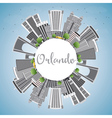 Orlando Skyline with Gray Buildings vector image vector image