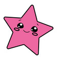 pink star with a smile logo vector image