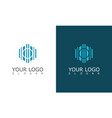 polygon building construction logo vector image vector image