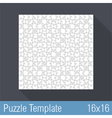 Puzzle Template 16x16 vector image
