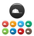 rap cap icons set color vector image