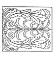 renaissance oblong panel is found in the palazzo vector image vector image