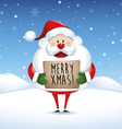 Santa Claus holding banner in Christmas vector image vector image